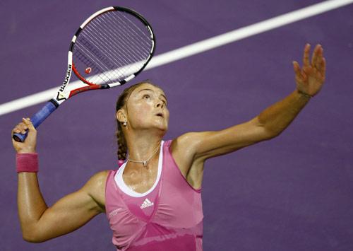 图文:WTA年终总决赛 萨芬娜对阵大威廉姆斯