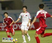 图文:[亚青赛]中国0-0朝鲜 李智超接球