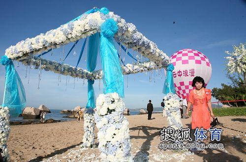 图:杨威杨云浪漫婚礼开场 杨威婚礼现场