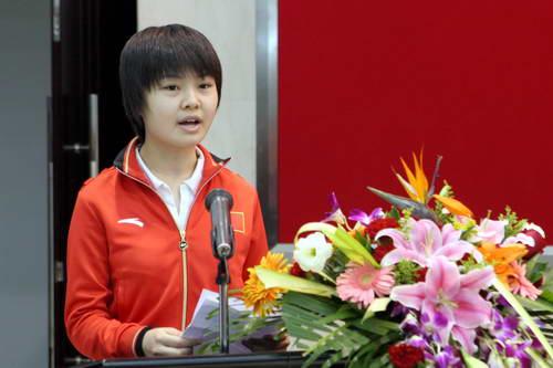 智运会女子围棋冠军宋容慧代表参赛运动运员发言