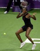 图文:WTA总决赛演威氏内战 大威浑身用力