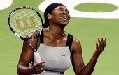 图文:WTA总决赛演威氏内战 小威输球几近躁狂