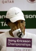 图文:小威退出WTA总决赛 小威感慨答问