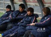 图文:[中超]天津1-0陕西 陕西替补席