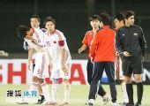 图文:[亚青赛]中国3-4乌兹别克 黯然神伤