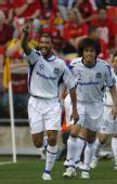 图文:[亚冠]阿德莱德联0-2大阪 卢卡斯庆祝进球