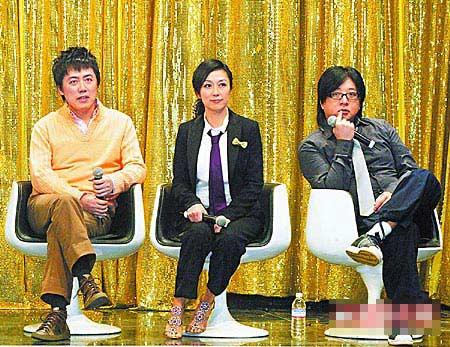 张宇(左起)、黄韵玲和袁惟仁,对黎础宁自杀感到震惊