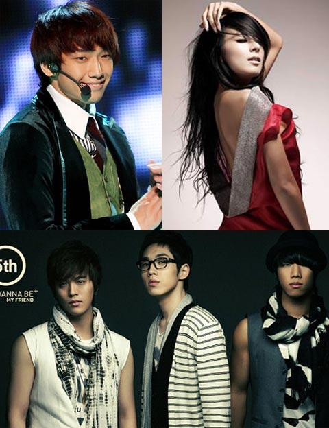 Rain、蔡妍、SGWannabe将在韩中日三地共同主持2008MKMF盛典