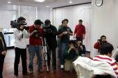 图文:正官庄杯第四局 比赛吸引众多记者关注
