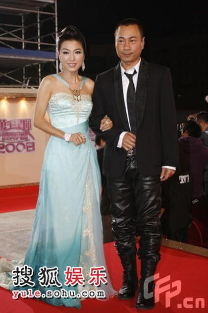 图:TVB台庆红毯 米雪、黎耀祥