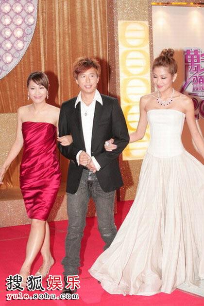 图:TVB台庆红毯 陈敏之、邓健泓