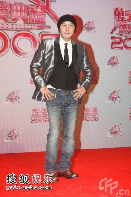 2008TVB台庆颁奖后台:张卫健回巢颁奖