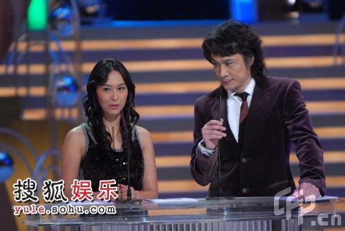2008TVB台庆颁奖现场 朱茵吴镇宇携手颁奖