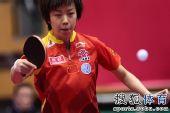 图文:乒球全锦赛首日女团 张怡宁拉弧圈球