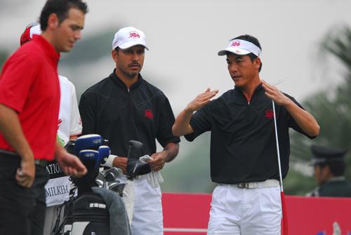 米哈辛(中)、张连伟等亚洲球员将在观澜湖捍卫亚洲荣誉