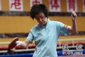 图文:乒球全锦赛女团次日 张怡宁正手拉球