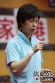 图文:乒球全锦赛女团次日 张怡宁表情痛苦