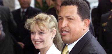 玛丽亚-伊莎贝尔-罗德里格斯与委内瑞拉总统查韦斯曾是一对令人羡慕的爱侣,他们于2007年离异。