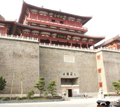 襄樊市过渡性博物馆昭明台外景