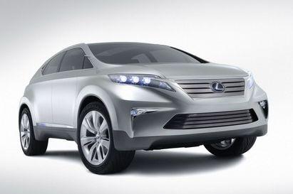 雷克萨斯油电混合动力车lf-xh高清图片