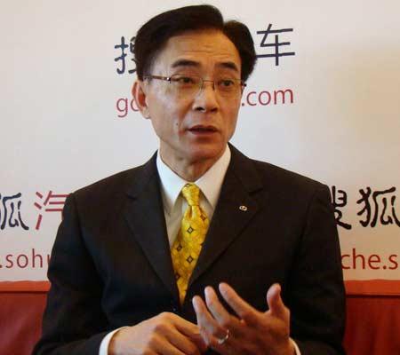 搜狐网现场采访丰田汽车(中国)投资有限公司副总经理曾林堂先生
