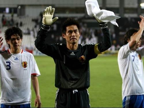 卡塔尔0 3日本 川口能活致谢球迷