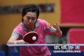 图文:北京女队3-0山东夺冠 李晓霞反手回球