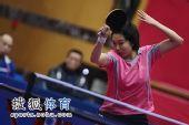 图文:北京女队3-0山东夺冠 李晓霞大力挥拍