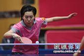 图文:北京女队3-0山东夺冠 李晓霞展臂回球