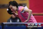 图文:北京女队3-0山东夺冠 李晓霞正在发球