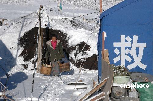 雪后探访当雄地震灾区中心地带