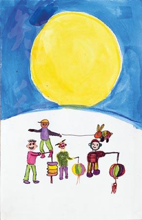 受艾滋影响儿童画展-中秋节