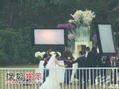图:李嘉欣婚礼直击 天色渐暗新人拖手回别墅