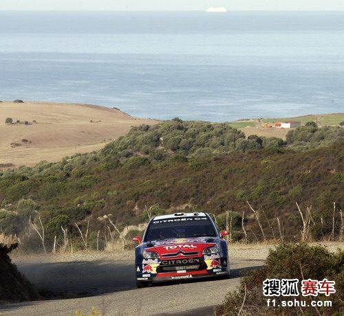图文:勒布加冕WRC五冠王 C4在比赛中