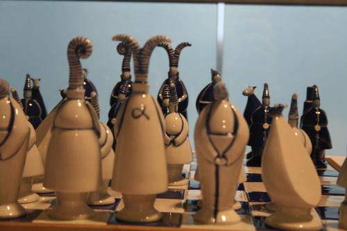 图文:国象奥赛场外风物 个性棋子魅力足
