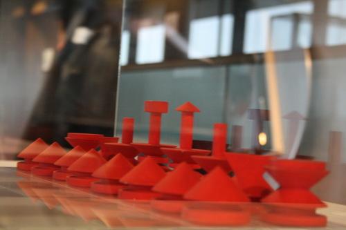 图文:国象奥赛场外风物 红色棋子惹人爱