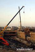 组图:杭州地铁塌陷基坑清理工作暂停
