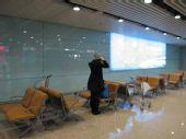 独家组图:王菲抵达首都机场 准备登机