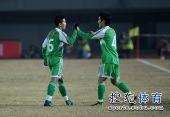 图文:[中超]北京2-0成都 小黄很兴奋