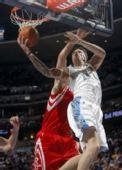 图文:[NBA]火箭负掘金 安德森上篮
