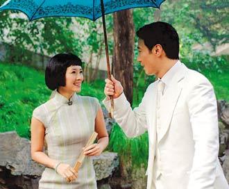 《梅兰芳》中,章子怡(左)与黎明(右)有感情对手戏。