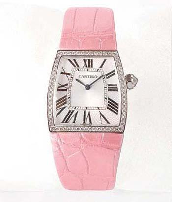 卡地亚粉红腕表