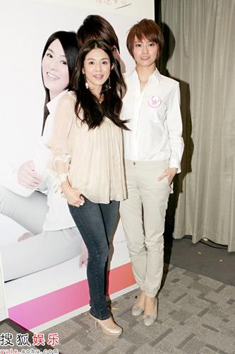 梁咏琪和杨采妮一同出席活动