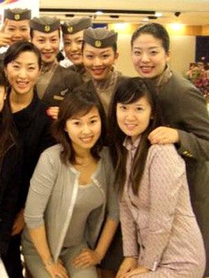 在韩国航空公司的中国空姐自拍生活