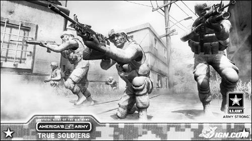 著名网络游戏《美国陆军》中的场景