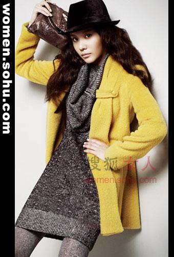好款式羊绒大衣 妙龄女入冬必备