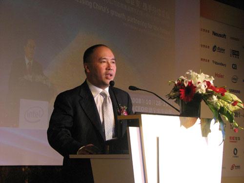 英特尔公司全球副总裁、中国大区总经理杨叙做主题演讲