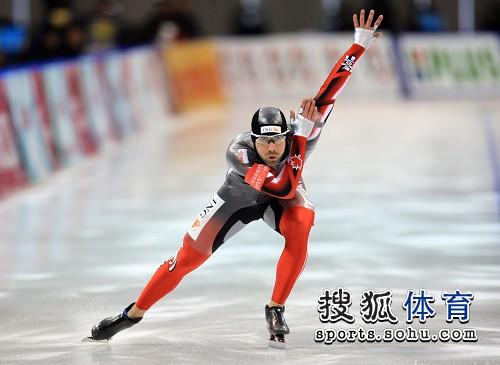 图文:速滑世界杯中国站 加拿大选手Olivier