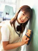 组图:小仓优子可爱写真 扮清纯学生妹
