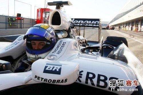 图文:F1赫雷斯试车1第四日 罗斯伯格正面特写